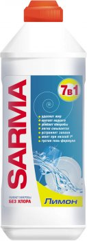 Упаковка геля для мытья посуды Sarma Лимон 500 мл х 5 шт (ROZ6400050030)
