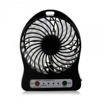 Портативний міні вентилятор настільний з акумулятором 18650 Fan Mini Black (00724)
