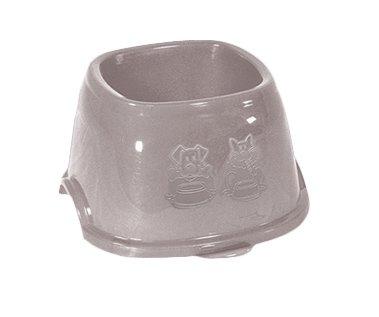 Пластикова миска для собак і кішок Stefanplast Break 9 Кокер 0.7 л 11 х 19 х 19 см Ніжно-рожева (8003507960862)