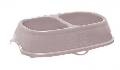 Пластикова миска для собак і кішок Stefanplast Break 11 0.4 л + 0.4 л 6 х 17 х 28 см Ніжно-рожева (8003507960916)