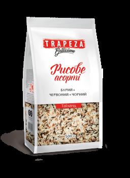 Рисове асорті TRAPEZA (нешліфований + червоний+чорний) 500 г