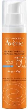 Солнцезащитный флюид Avene SPF50+ для нормальной, комбинированной кожи 50 мл (3282770112047)