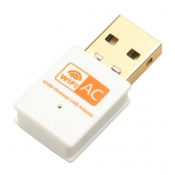 Wifi адаптер REALTEK 8811CU 5Ghz/ 2.4Ghz двухдиапазонный 600 Mbps OEM Белый