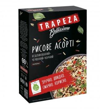 Рисове асорті TRAPEZA нешліфованого, червоного та чорного лущених рисів 400 г
