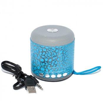 Портативна колонка Wster WS-Y93 Bluetooth бездротова акумуляторна з USB і MicroSD слотами Синя (11053)