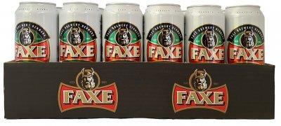 Упаковка пива Faxe Premium светлое фильтрованное 5% 0.5 л х 24 шт (4744136011337G)