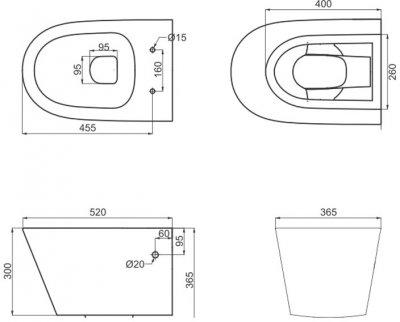 Унітаз підвісний PRIMERA Topic 8320020 безобідковий із сидінням Soft Close дюропласт