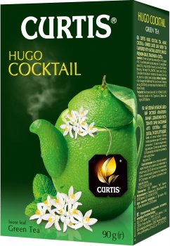 Чай зеленый байховый со вкусом коктейля Хуго Curtis Hugo Cocktail 90 г (4823063703482)
