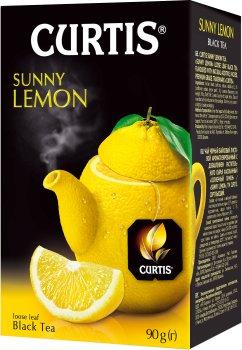 Чай черный байховый со вкусом лимона Curtis Sunny Lemon 90 г (4823063703505)