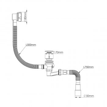 Сифон для ванны NOVA автомат 1541N