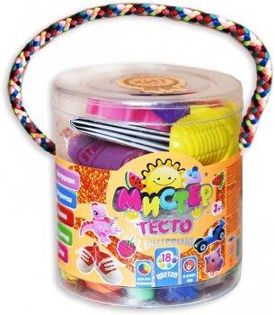 Набор для лепки Strateg Мистер тесто 18 цветов с глиттером (4820175999154)