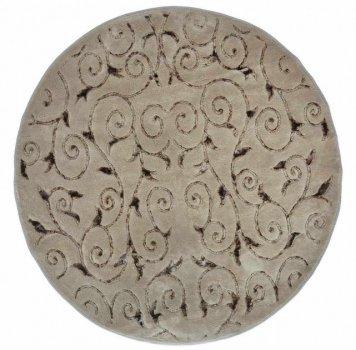 Килимок для ванної Arya Sarmasik D-120 см коричневий арт.1380031
