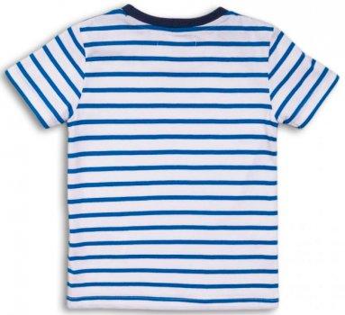 Футболка Minoti 1Stripe 6 13284 Бело-синяя