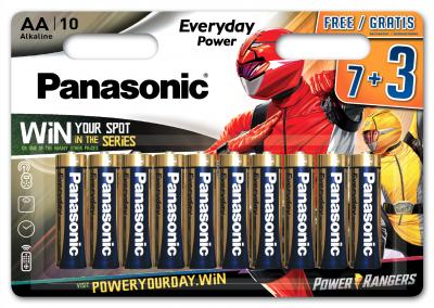 Батарейки Panasonic Everyday Power щелочные AA блистер 10 шт Power Rangers (LR6REE/10B3FPR)