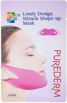 Маска для подбородка и скул Purederm Lovely Design Miracle Shape-up V-line Mask лифтинг 10 г (8809541190728)
