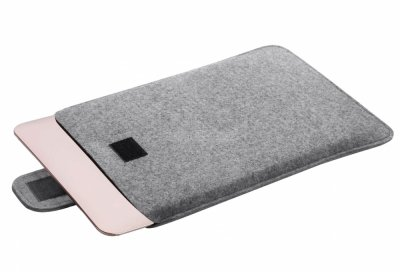 Чохол-конверт Gmakin для Macbook 15 світло сірий
