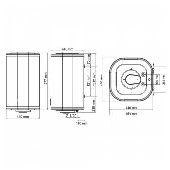 Водонагрівач ARTI WH Cube 150L/1