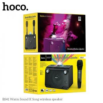 Акустика - караоке HOCO Warm Sound K Song wireless speaker BS41 |BT/TF/USB/AUX, 20W| + мікрофон, Black