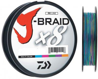 Шнур Daiwa J-Braid X8 0.13 мм - 150 м мulti Color (12755-013)