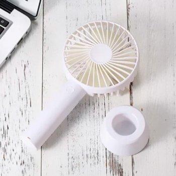 Ручной мини вентилятор UTM портативный настольный аккумуляторный от USB CN9 White (CN9)