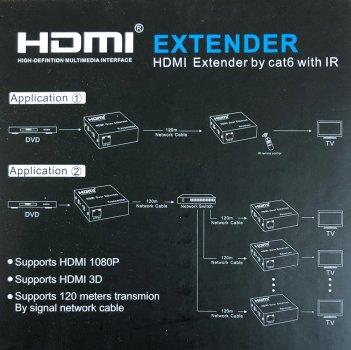 Подовжувач HDMI-сигналу Atcom HDMI extender через виту пару до 120 м (14157)