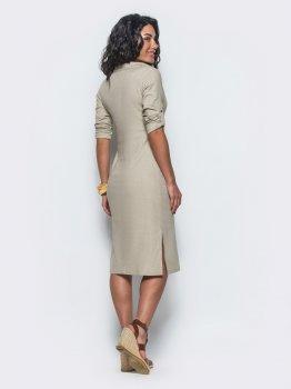 Платье Dressa 12461 Бежевое