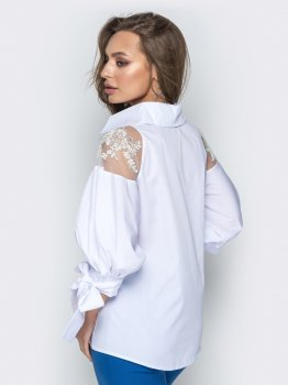 Блузка Dressa 20750 Белая