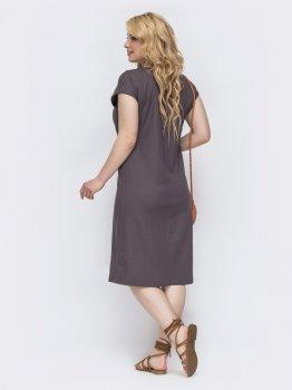 Плаття Dressa 46221 Коричневе