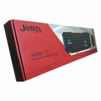 Клавіатура і мишка Професійна бездротова ігрова не галаслива JEDEL WS880 Бездротова Набір