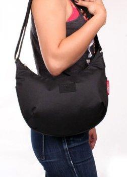 Женская сумка с ремнем на плечо POOLPARTY Черная