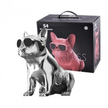 Bluetooth-колонка Aerobull S4 BIG DOG METALLIC c радіо , USB , сіра