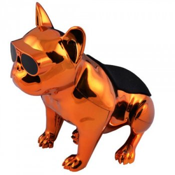 Bluetooth-колонка Aerobull S4 BIG DOG METALLIC c радіо USB , золота