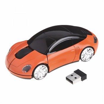 Мышка-машинка HO China беспроводная оранжевая