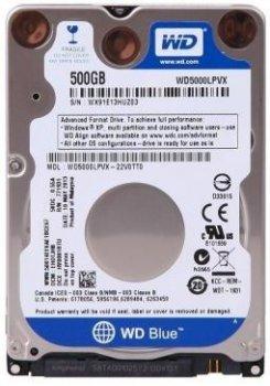 Жорсткий диск (HDD) Western Digital 500Gb 5400rpm 16MB Blue (WD5000LPCX)