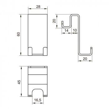 Крючок двухстороний раздвоенный EGER 555/1-hook