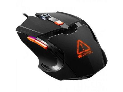 Мышь Canyon Vigil CND-SGM02RGB Black/Orange USB