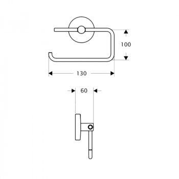 Тримач для туалетного паперу Lidz (CRM)-114.03.03 SD00028249