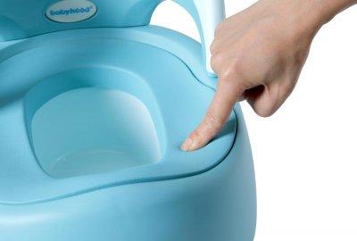 Детский горшок Babyhood Утёнок с полиуретановым кольцом голубой (BH-114BU)