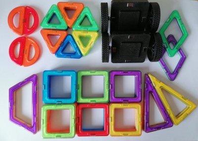 Магнитный Конструктор 3D Магниты 50 деталей развивающие игрушки