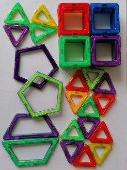 Магнитный конструктор на 40 деталей 3D Магниты
