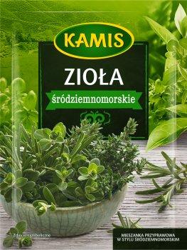 Упаковка приправи Kamis Трави середземноморської кухні 10 г х 4 шт. (5900084267427)