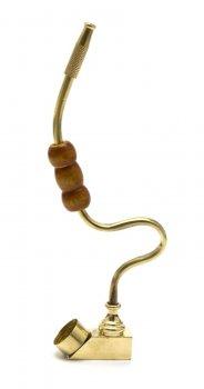 Трубка Бронзовая Гнутая (13,5Х7Х1,3 См)(Zik Zak)B 5802B