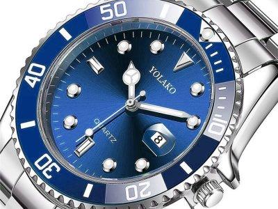 Часы Yolako Кварцевые мужские Синий (1007-062-01)