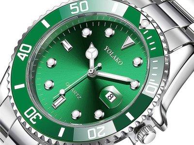Часы Yolako Кварцевые мужские Зеленый (1007-062-02)
