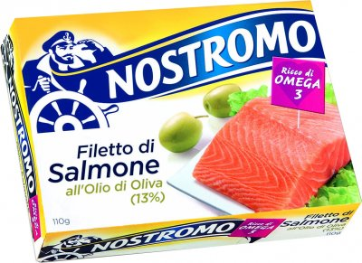 Лосось Nostromo в оливковом масле 110 г (8005850186500)