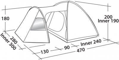 Намет Easy Camp Eclipse 500 Gold Red (928296)