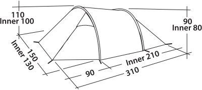 Палатка Easy Camp Spirit 200 Teal Green (928306)