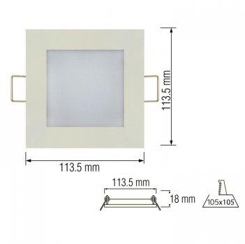 Світильник стельовий світлодіодний LED-панель Horoz Electric SLIM/Sq-6 6W 4200K 056-005-0006