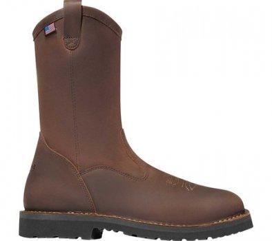 "Чоловічі чоботи Danner Bull Run 11"" Square Toe Wellington Boot Brown Full Grain Leather (141838)"
