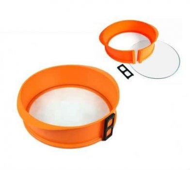 Форма для выпечки силиконовая круглая Tiross TS-368 26 см Orange